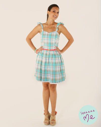 Vestido Xadrez Romance - R$ 149,90 - Disponível na nossa loja virtual: http://bzz.ms/vestxadromance