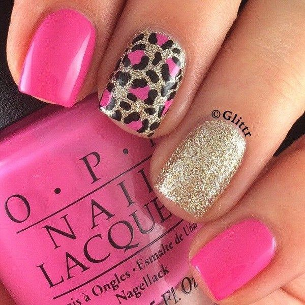 50 Stylish Leopard and Cheetah Nail Designs | Leopards, Cheetah ...