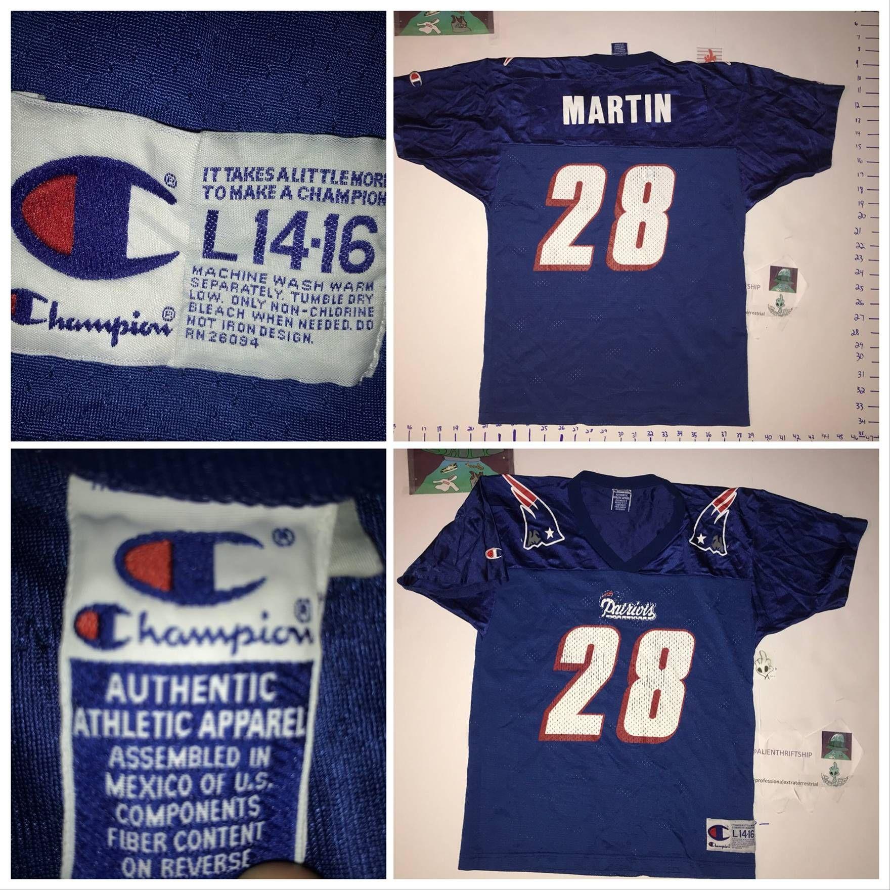 the latest febe4 281c7 90s Vintage Curtis Martin CHAMPION Patriots Jersey ...