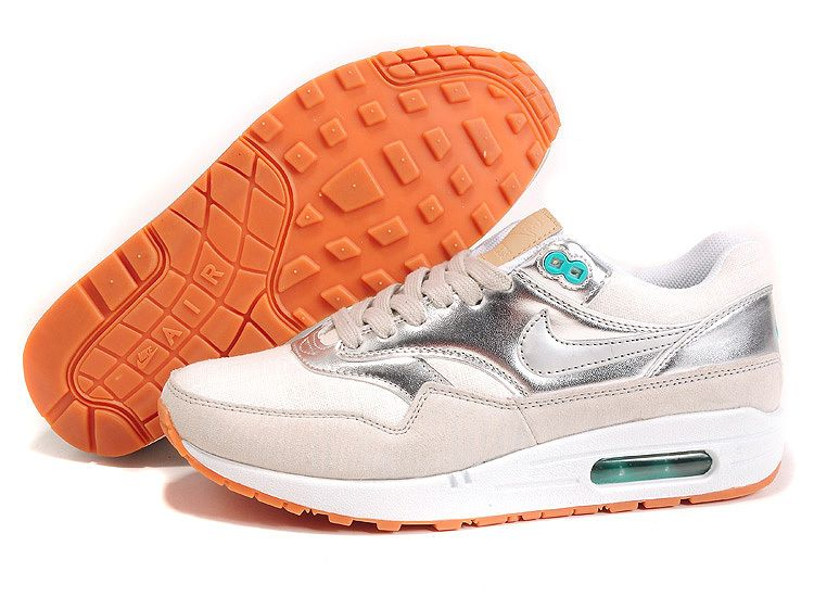 newest collection 9d583 0865d New Silver Nike Air Max 1 88 Womens Running Shoes 2013 Free Shoes