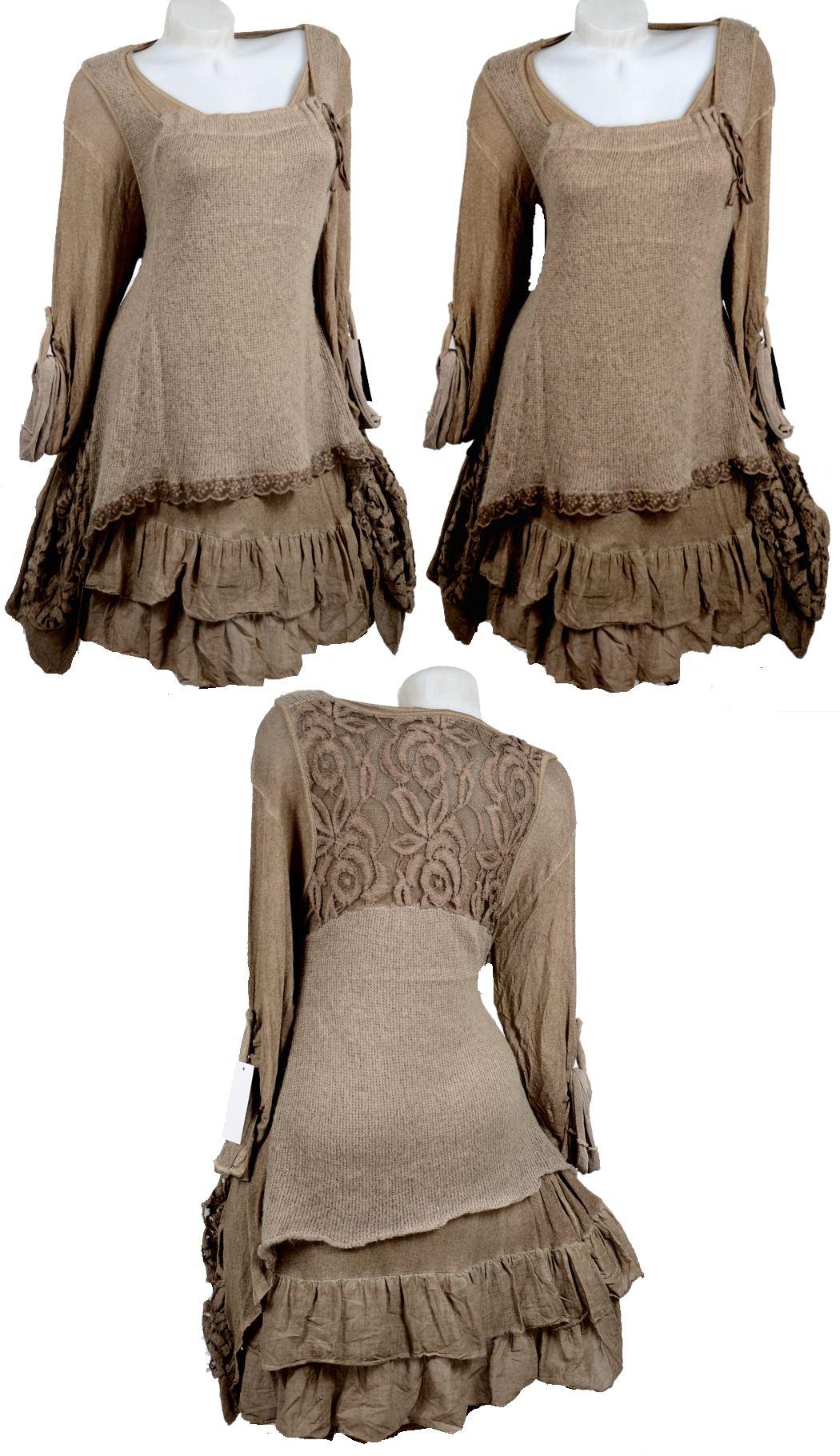 Kleid spitze lagenlook