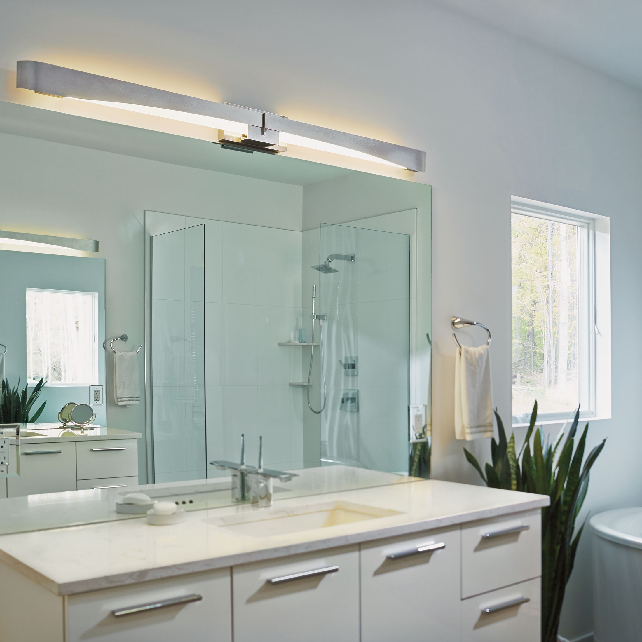 Refined Yet Stylish The Lynk Bath Vanity Light Simultaneously Complements A Wide Range Of: Hubbardton Forge - Our Favorites