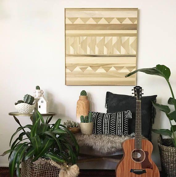 Wood Wall Art Wood Art Geometric Wood Art Wood Wall Art   Condo ...