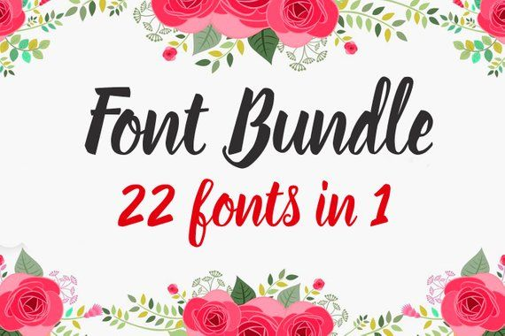 Download This package includes 22 Script Font. For only $12! This ...