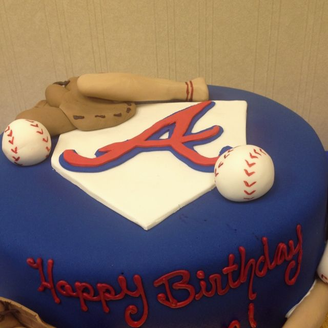 Atlanta Braves Cake... Brian A Birthday Cake