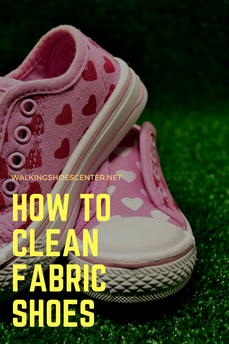 how to clean fabric shoes white