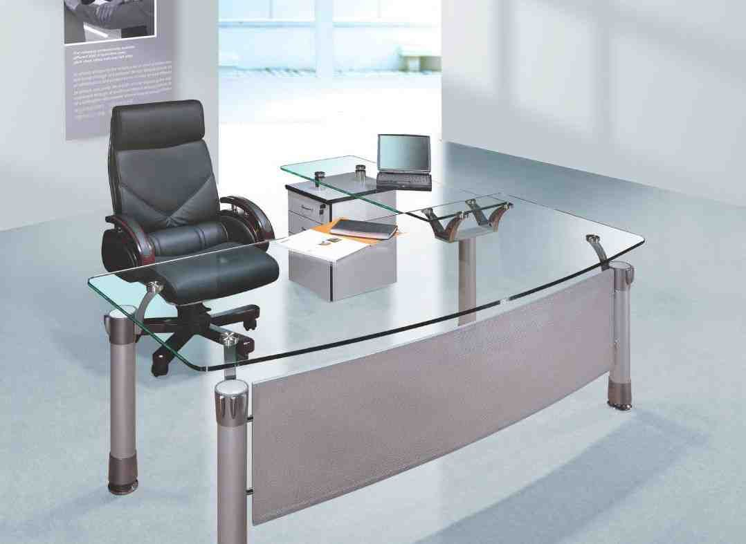Glass Office Desk Furniture Glass Desk Office Modern Glass Desk