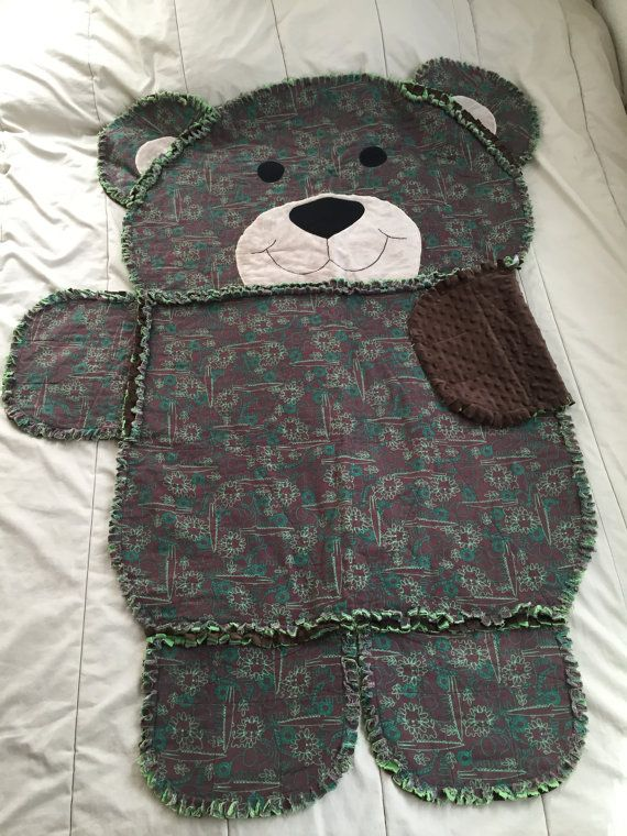 Animal Rag Quilt Rag Quilt Animal Shaped Quilt Bear By