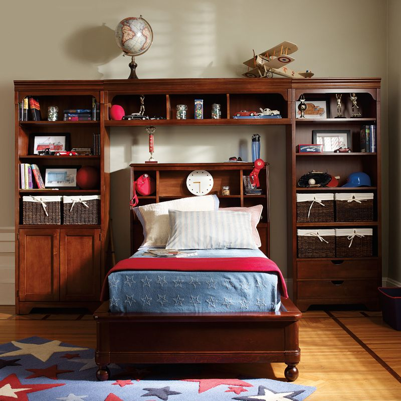 Shared Boys Bedroom Storage: Boys Room Design Complete With Lots Of Storage!
