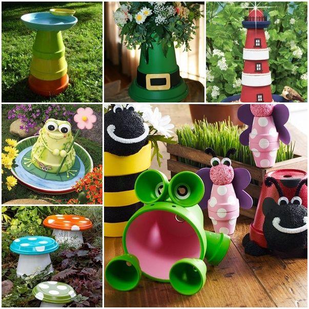 15 proyectos diy para decorar tu jard n manualidades con botones pinterest jardins pots. Black Bedroom Furniture Sets. Home Design Ideas