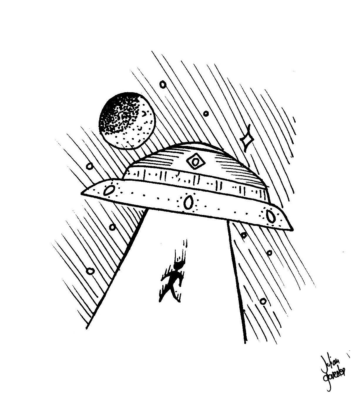 abducción. dibujo. Ovni. abduction drawing U.F.O. | Dibujos ...