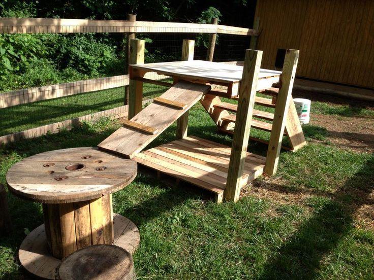 Pallet Playground | Dog playground, Goat playground, Diy ...