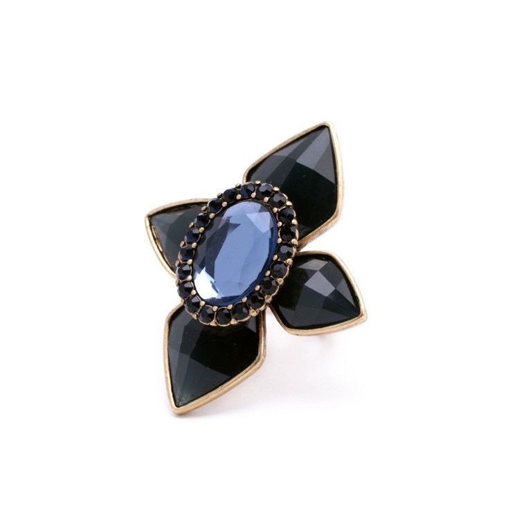 Blue Gems Cocktail Statement Ring MRP :  Rs. 299/- http://www.bouteeko.com/productdetail/blue-gems-cocktail-statement-ring