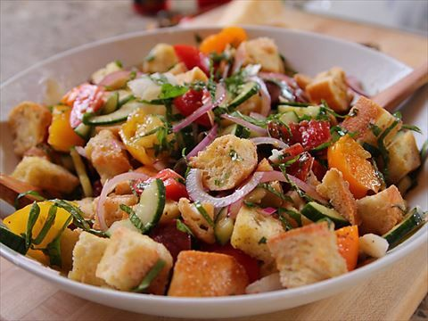 Ree's Perfect Panzanella : Ree adds fresh basil to her version of the classic Italian bread salad.