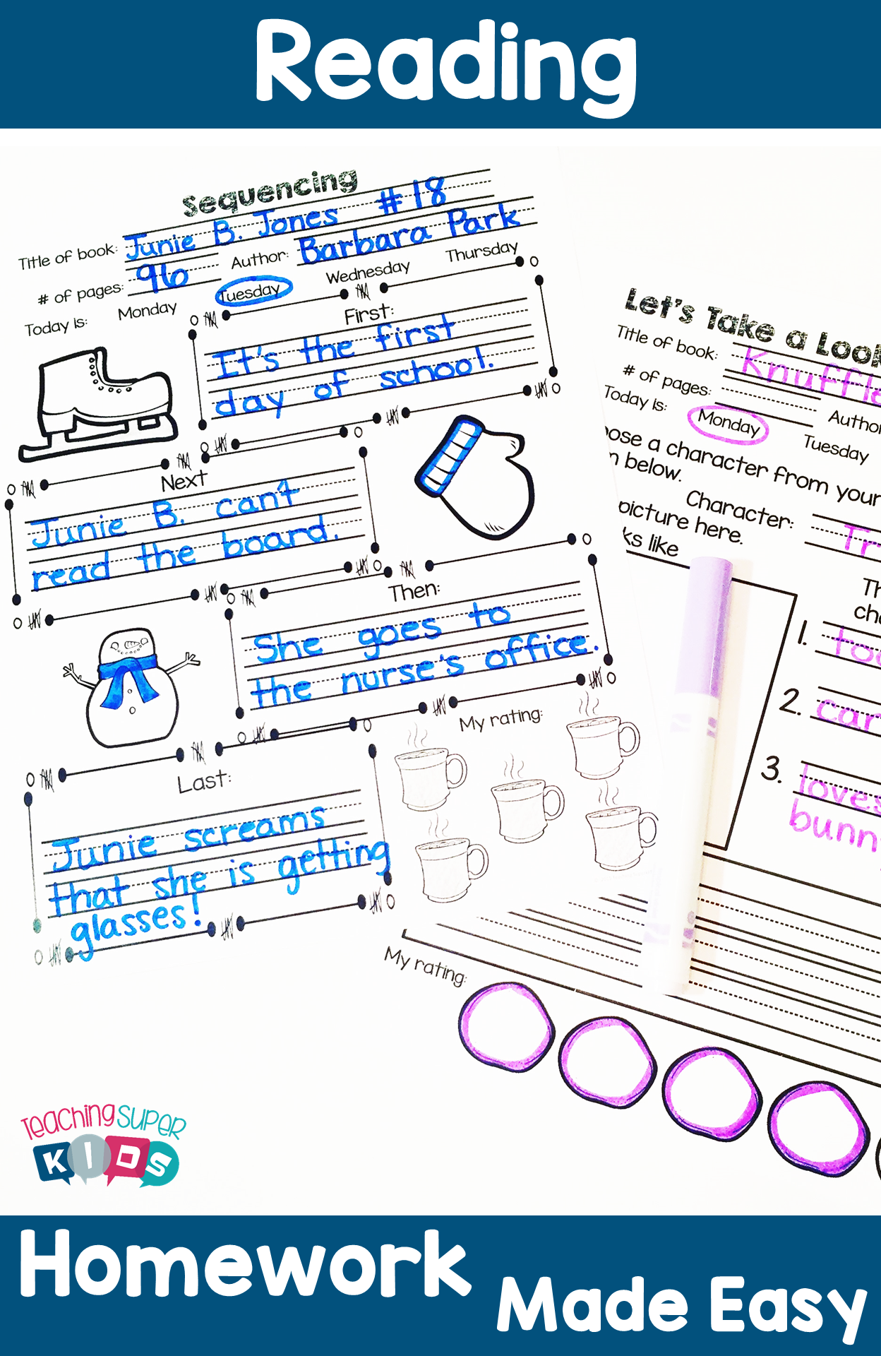 Reading Homework for January. This set of January themed Reading Response sheets will help your students keep track of the books they are reading. The best part is that you can use it with any set of books! The clipart is themed but the questions are not! Increase accountability with these Reading Response Sheets!