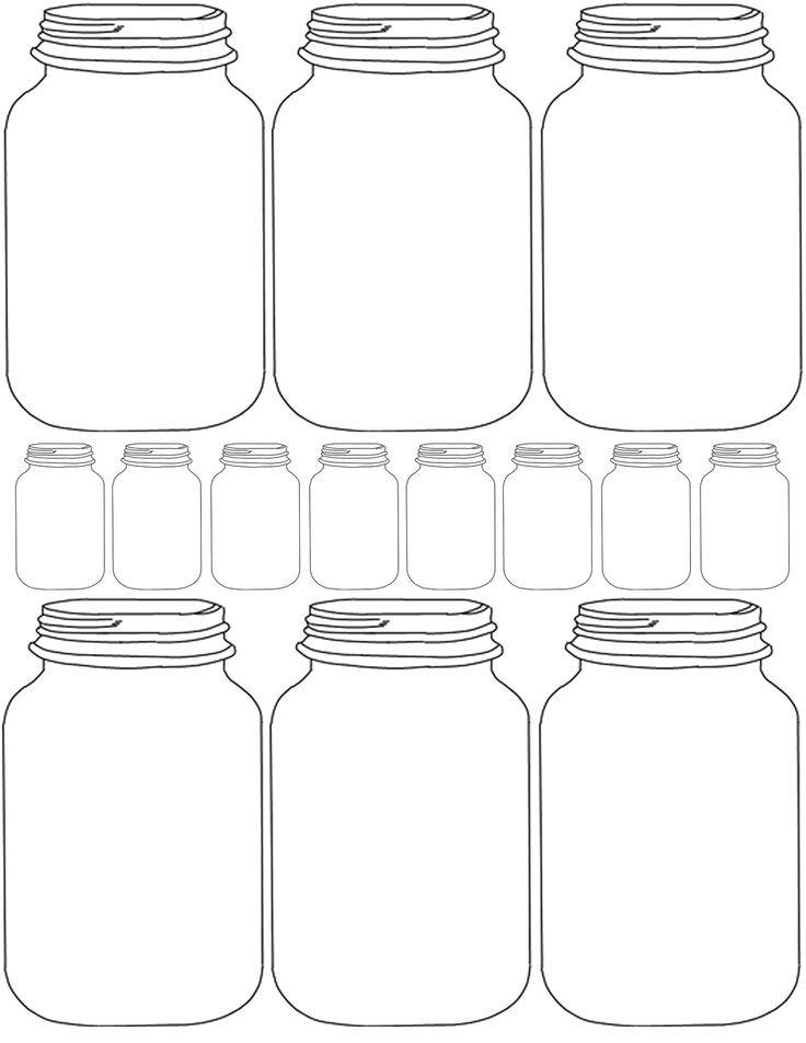 mason jar invitation template
