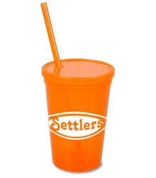 Stadium Cup w/Lid & Straw - 16 oz. - Jewel