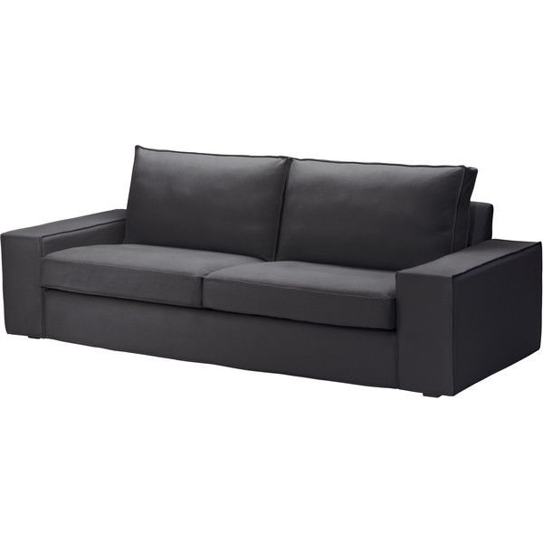 Ikea Kivik Sofa Dansbo Dark Gray 549 Liked On Polyvore Featuring Home Furniture Sofas Sofa Ikea Seating Charcoal Gray Couch Ch Sofa Ikea Inredning
