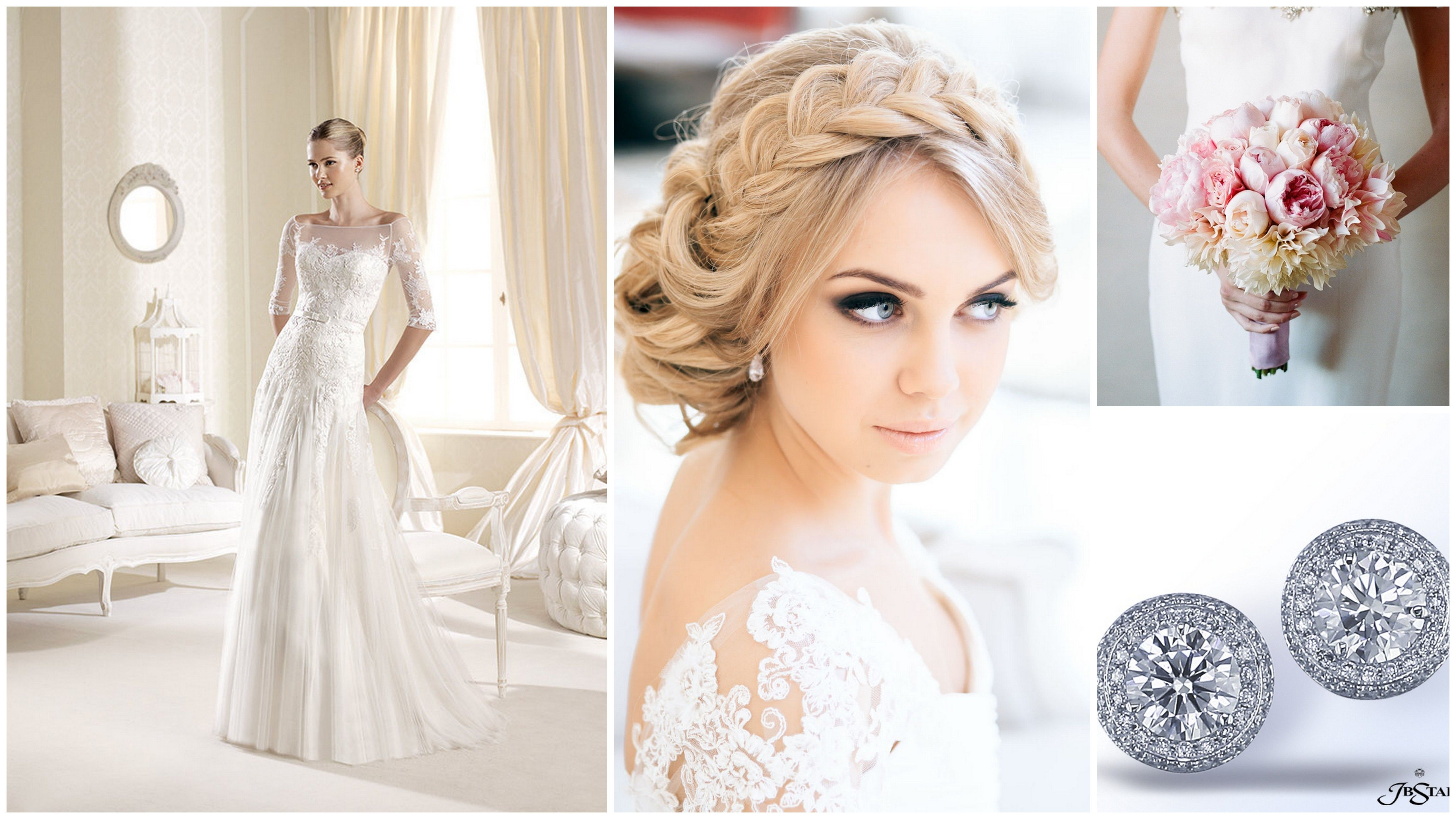 bridal look with braided updo | bridal look inspiration/stylizacje ...