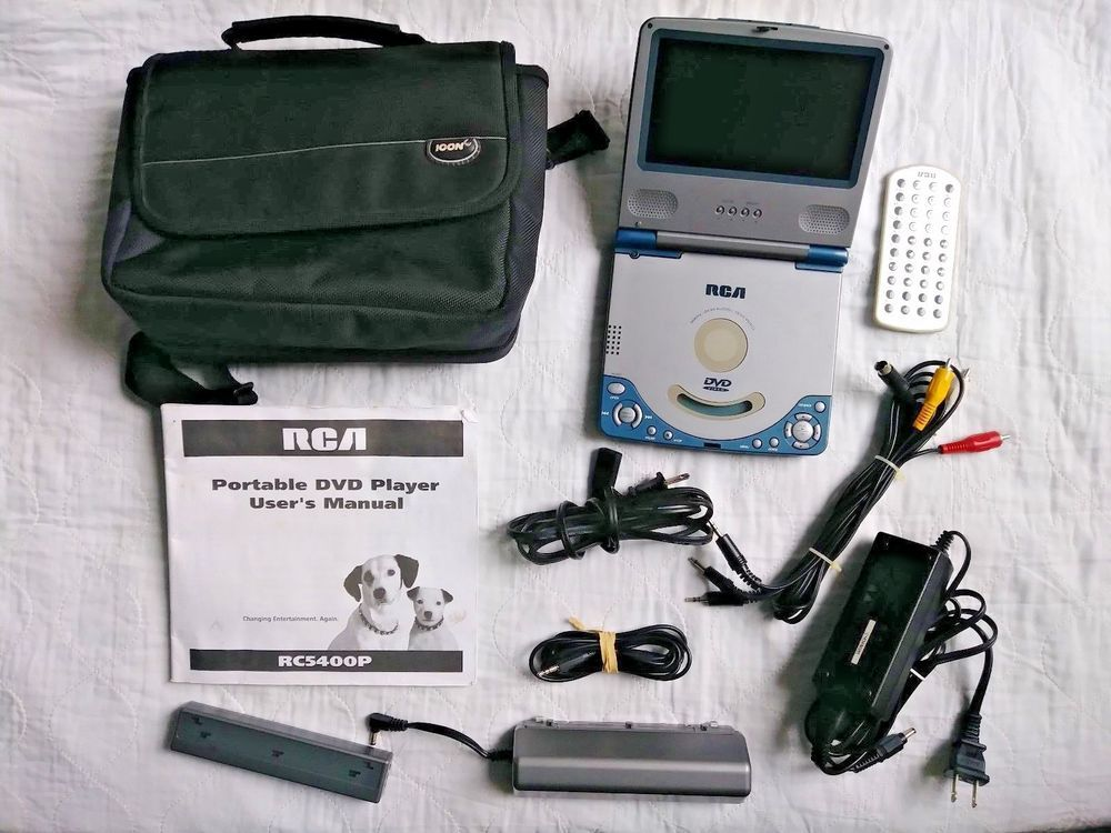 Rca Rc5400p Portable Dvd Player W Case Tested W Battery Works With Images Portable Dvd Player Dvd Player Dvd