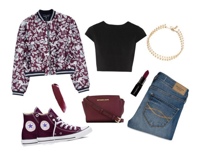 """""""Untitled #79"""" by jenxbraz ❤ liked on Polyvore featuring Markus Lupfer, Converse, Abercrombie & Fitch, Smashbox, NARS Cosmetics, BaubleBar, Alice + Olivia, MICHAEL Michael Kors, women's clothing and women"""