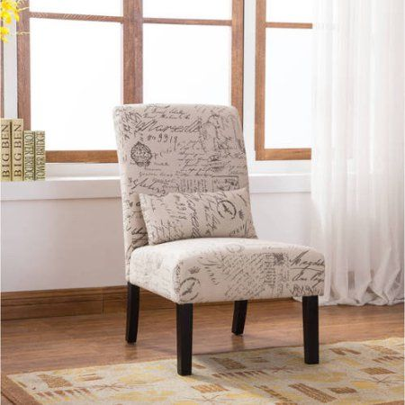 Home Accent Chairs Furniture Armless Accent Chair