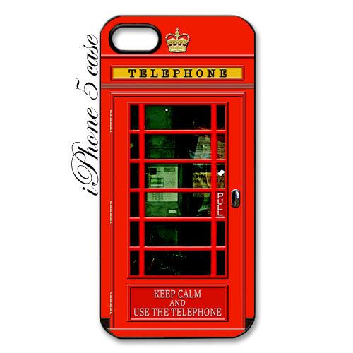 British Red Public Phone Booth apple iphone 5 case black or White case