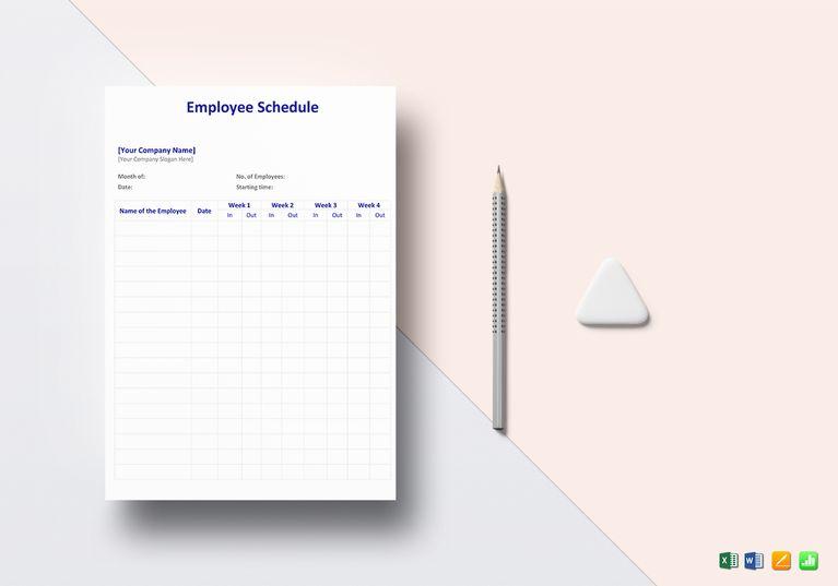 Employee Schedule Template Schedule templates and Template - schedule template in excel