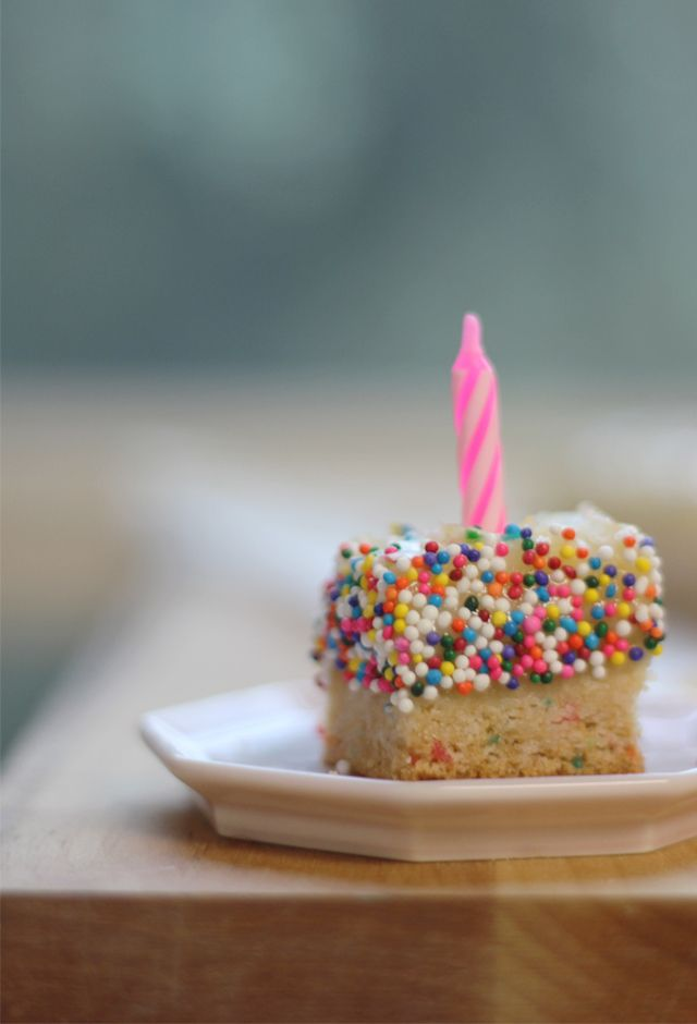 Sprinkle-Dipped Ooey Gooey Birthday Cake Bars | With Lovely,