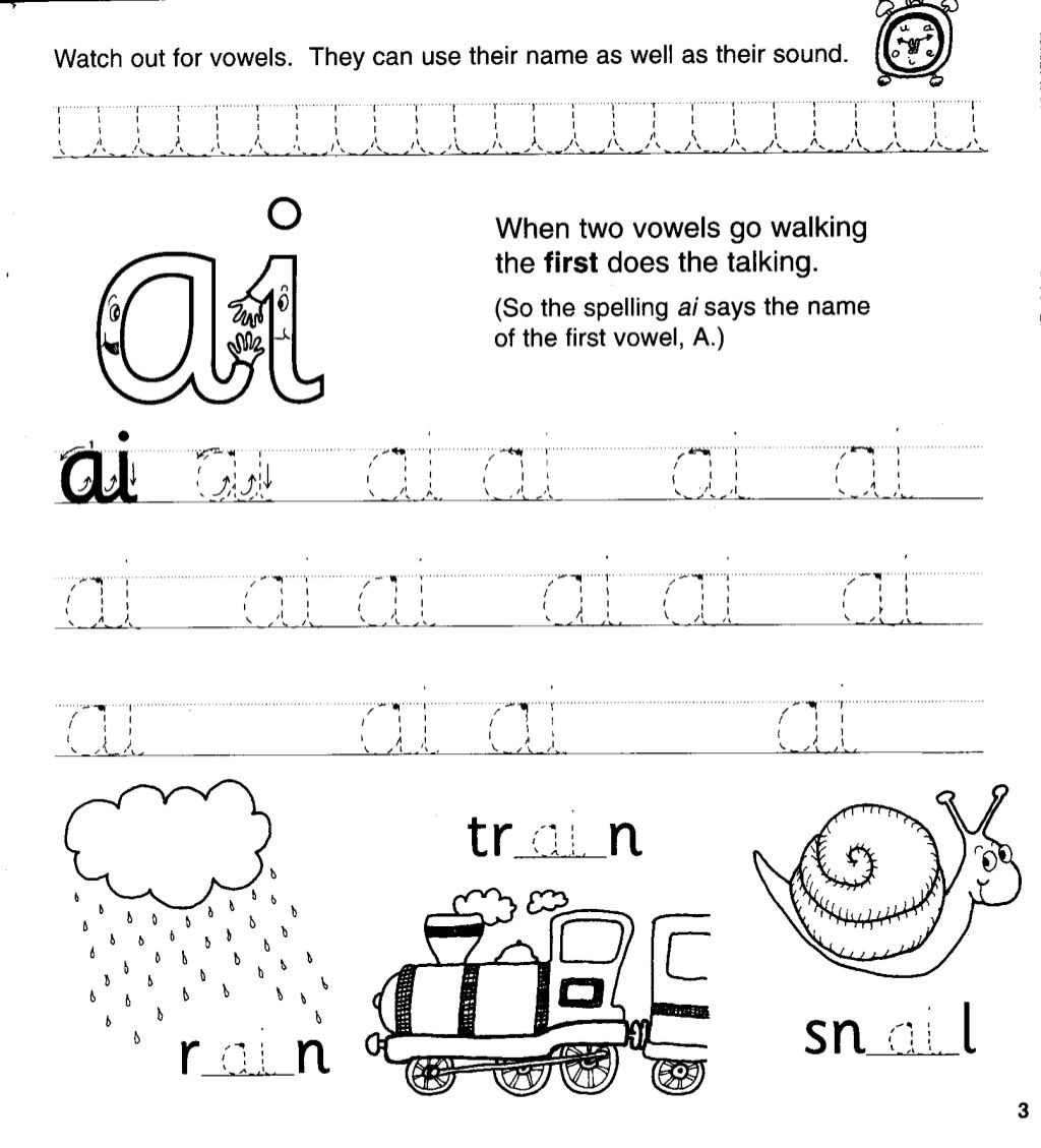Jolly Phonics Workbook 4 Ai J Oa Ie Ee Or In