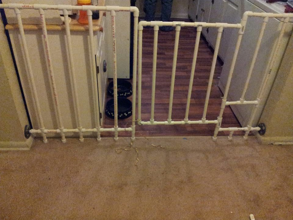 Delicieux Pvc Pipe Gate. With A Dog Door.