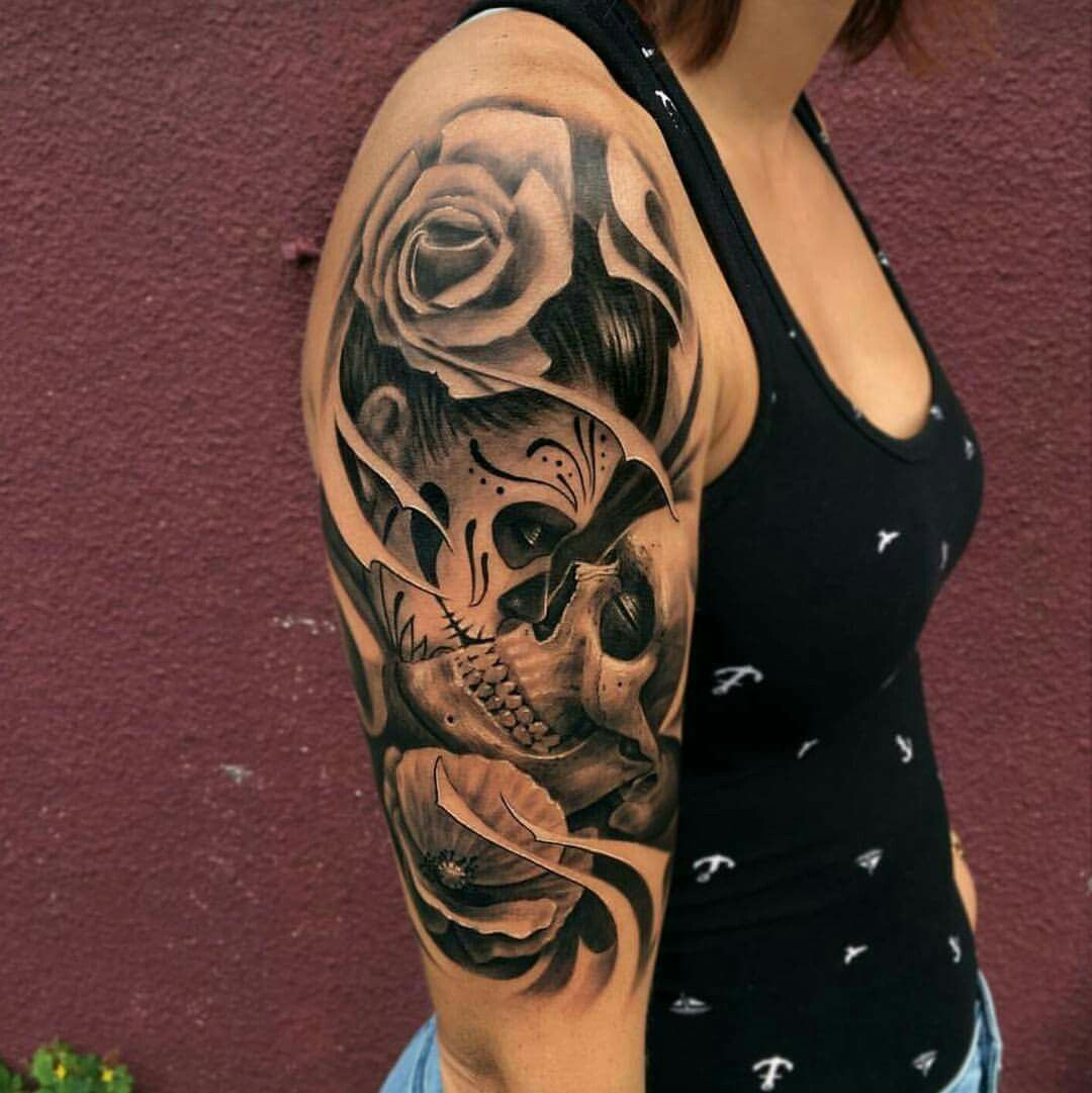 20 skull tattoos for women - safety pins Tattoo Styles