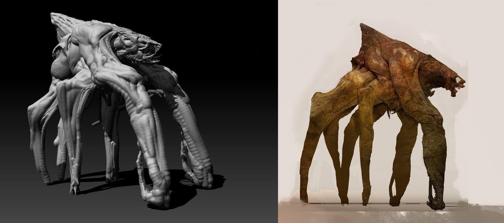 Muto Creature Design for Godzilla 2014 by Vance Kovacs