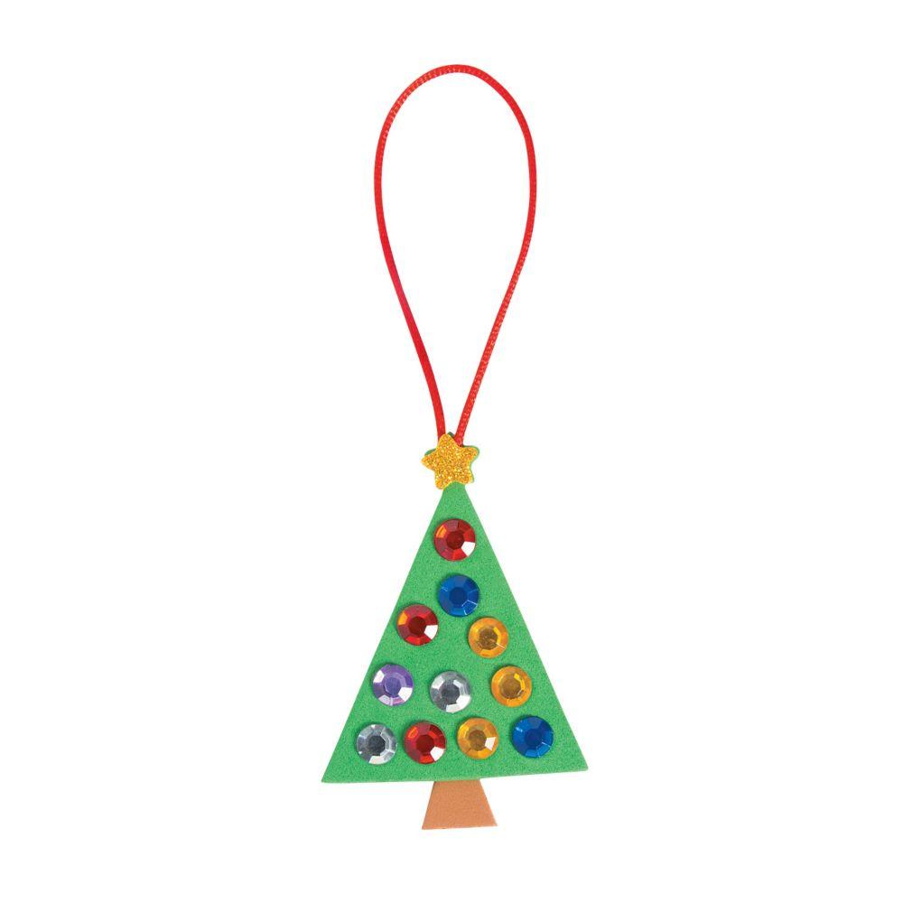 Jewel Christmas Tree Ornament Craft Kit Oriental Trading In 2020 Christmas Tree Ornament Crafts Ornament Crafts Xmas Crafts Kids