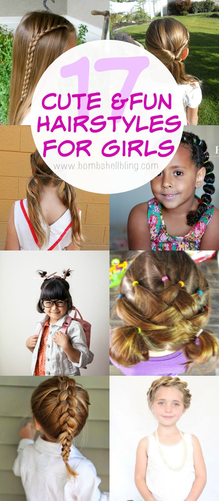 Fun Back To School Hairstyles For Girls Hair Pinterest - Hairstyle for school girl easy