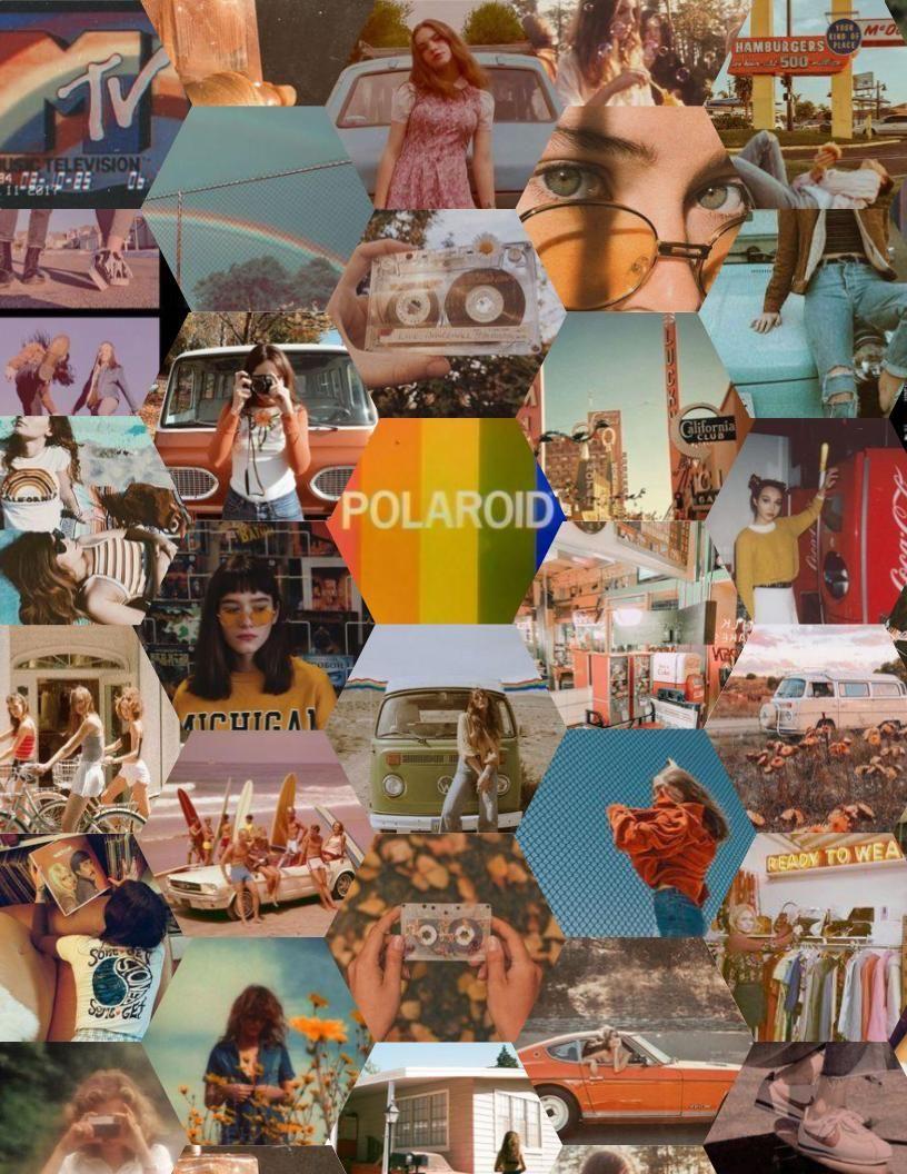Retro Grunge Aesthetic Wallpaper Vintage Color Schemes Geometric Shapes Art Aesthetic Wallpapers