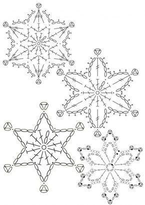 15 modèles de flocons de neige au crochet – modèles gratuits – Turquoise avec vanille   – häkeln weihnachten