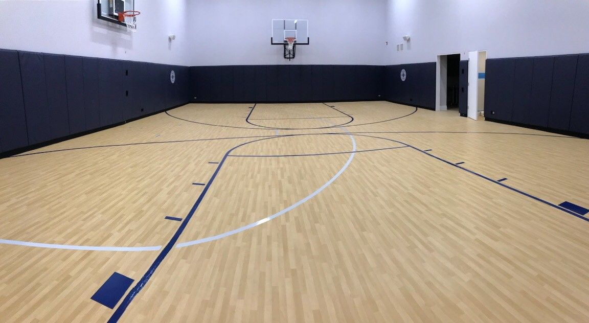 Pin By Sport Court Midwest On Indoor Residential Courts Sport Court Home Basketball Court Indoor Sports Court