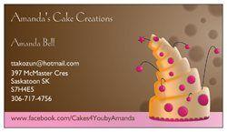 Visit  www.Facebook.com/Cakes4You byAmanda