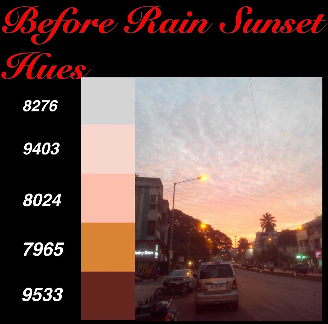 Before Rain Sunset Hues