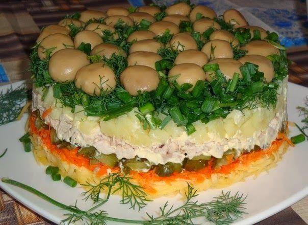 Ингредиенты: Грибы маринованные — 500 Грамм Куриное мясо ...