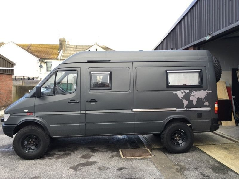 mercedes sprinter 312d 4x4 mwb 160k miles 12 months mot with no advisories been profesionally. Black Bedroom Furniture Sets. Home Design Ideas