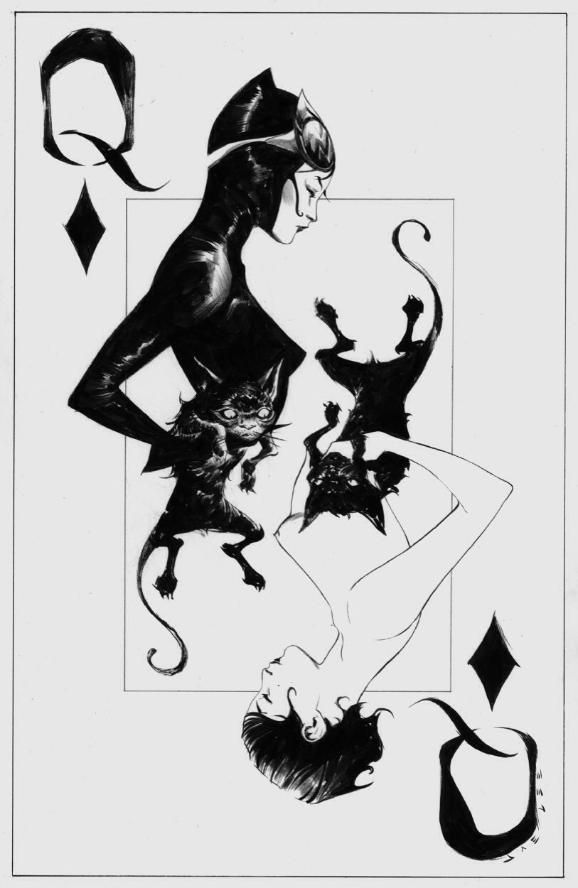 Catwoman the queen of spades by jae lee catwoman - Dessin catwoman ...