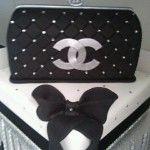 bolo mulher preto branco