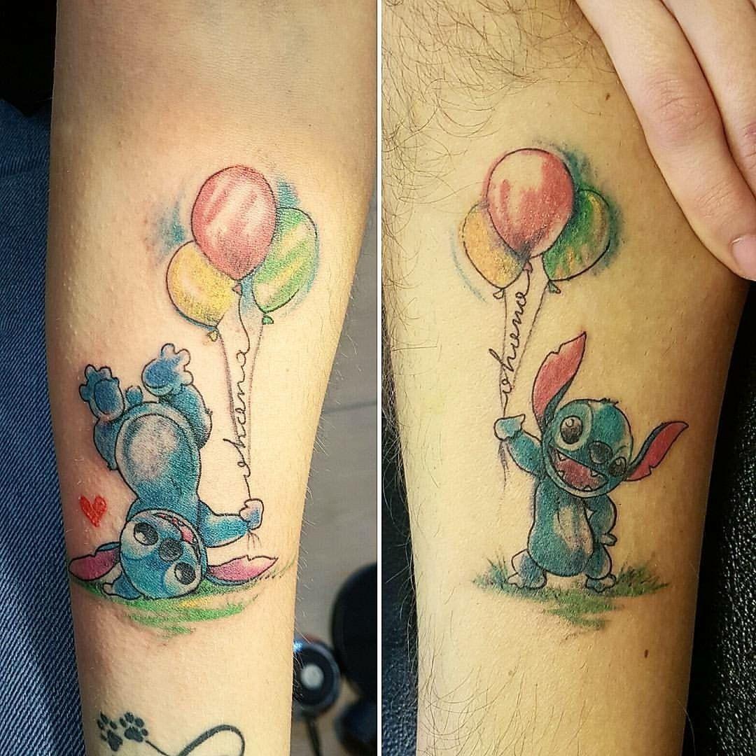 Stiched Leg Tattoo: Disney Stitch Tattoo Watercolor