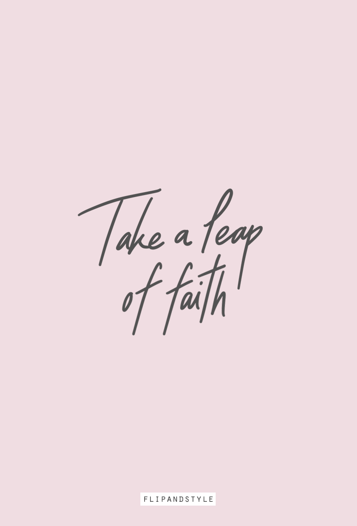 Take A Leap Of Faith Leap Of Faith Quotes Bible Quotes About
