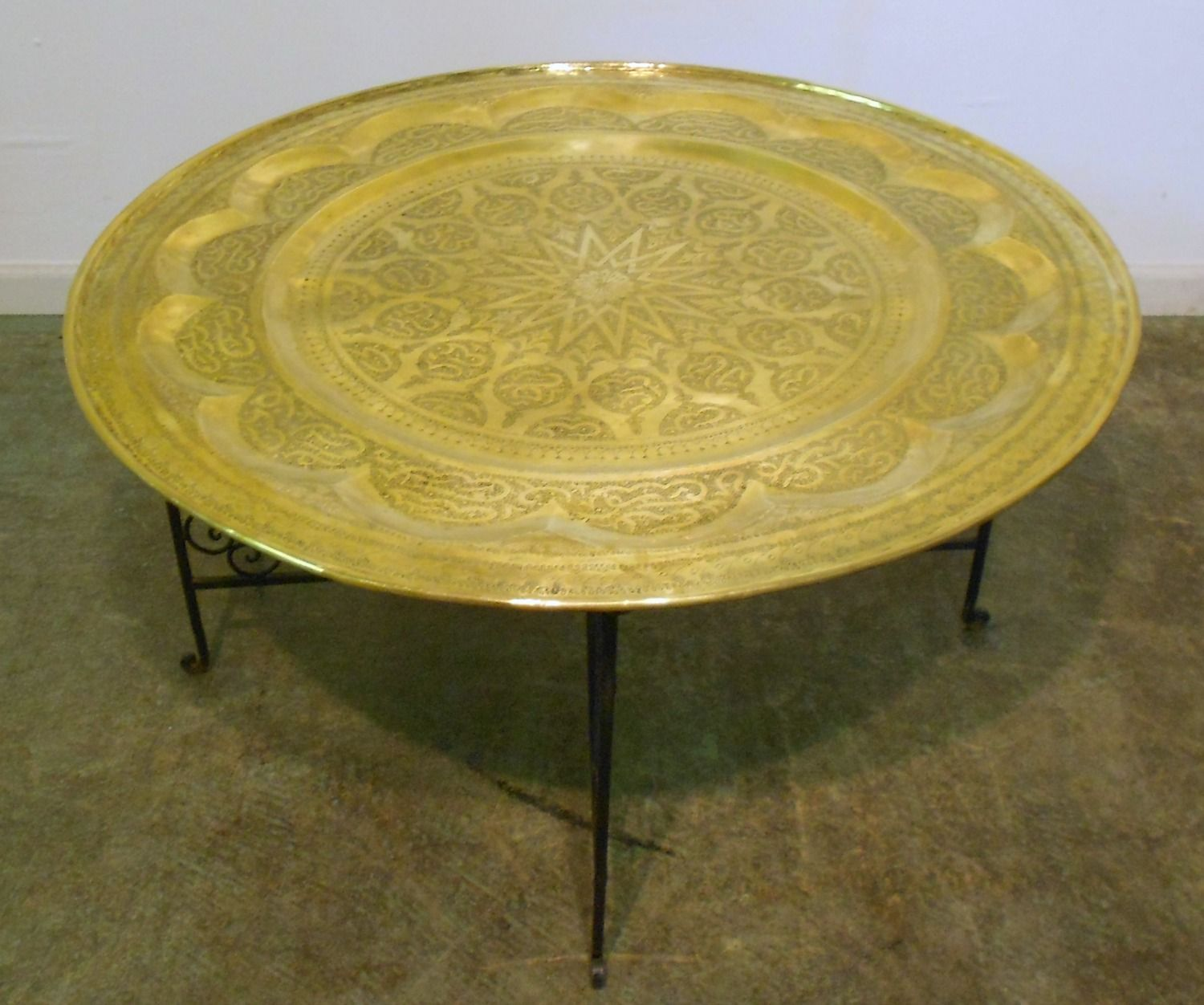 Round Brass Table Coffee Table Tray Table Room Themes