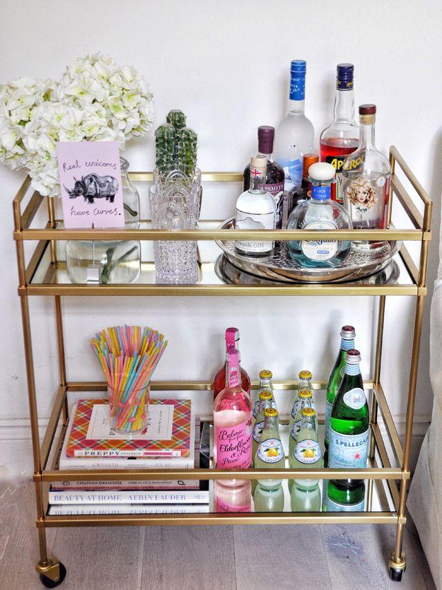 3 Ways To Style The Perfect Bar Cart Fashion Foie Gras Home Bar Decor Bar Cart Inspiration Bar Cart Decor