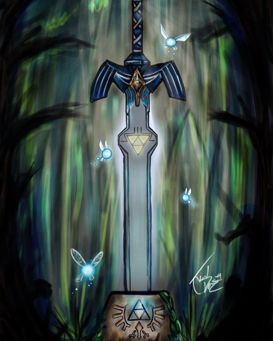Legend of Zelda art > The Master Sword by Joel Pizarro