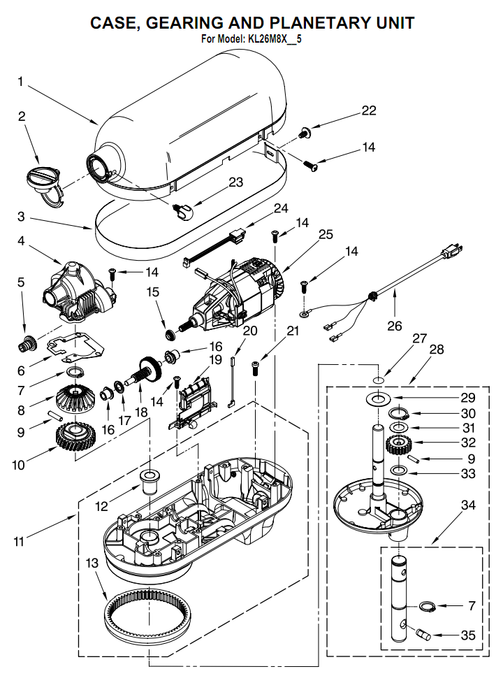 kitchenaid schematics